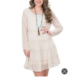 Wrangler Dress w/ Tiered Ruffles & Crochet Details